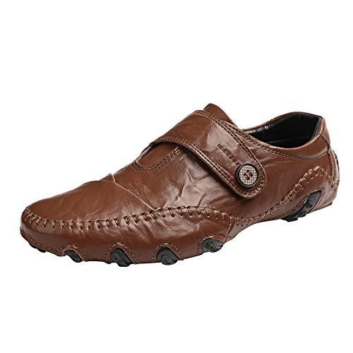 Strungten Bequeme Leder Freizeitschuhe Atmungsaktive Fahrschuhe Wohnungen Bootsschuhe Slip On Herren Business Casual Flache Schuhe 3/4-zoll-sexy Stiletto