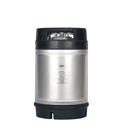 2.5 Gallon New Amcyl Ball Lock Keg with Dual Rubber Handle by AMCYL (Dual Keg)