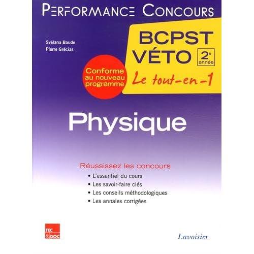 Physique 2e année BCPST-Véto