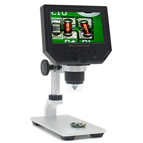 Yammucha 600x Digital-Mikroskop mit flexiblem Arm und 4,3-Zoll-Bildschirm, geeignet für...