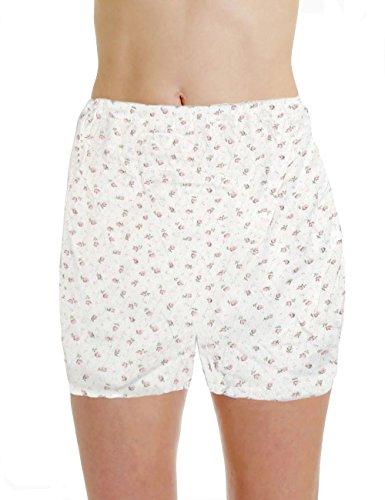 LisaModa Damen Pagenschlüpfer 6er Pack Baumwolle Jaquard Slips 40/42 Weiß Bedruckt (6 Slips Damen Baumwolle)
