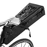 XPhonew borsa per sellino, 10L bicicletta reggisella sella impermeabile da bicicletta ciclismo stoccaggio confezione borsa per bicicletta pieghevole mountain bike della sella, colore: Nero