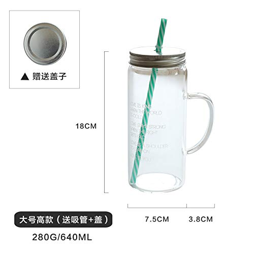 Winpavo Becher Kaffeetassen Tassen Hitzebeständige Glasapplikationen Aus England Mit Deckel Sippy Cup Saft Cup Glas Cup, B - Saft Sippy Cup