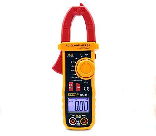 HYCy Amperemeter ACV/DCV ACA Auto Range-Messung der großen Kapazität NCV Digitales Zangenmessgerät (BM818)
