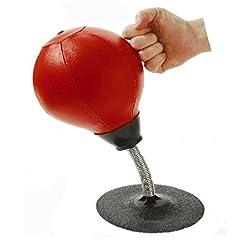 Idea Regalo - Punching ball da scrivania, super resistente, antistress, con ventosa e pompa