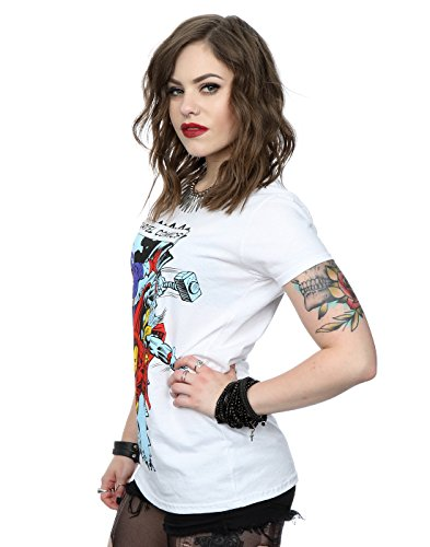 Marvel Damen Comic Characters T-Shirt Weiß