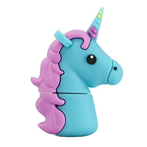16GB Unicornio Azul Modelo USB Flash Drive Pen Drive Memoria Flash u Disco USB Flash Disk USB Thumb Drive, Tarjeta de Memoria