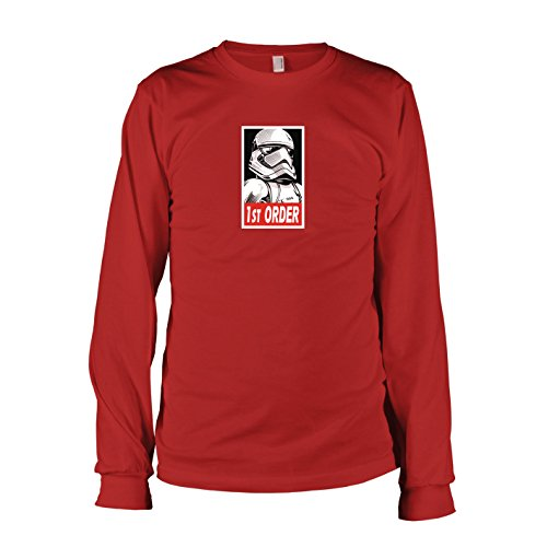 TEXLAB - SW: First Order Stormtrooper - Langarm T-Shirt, Herren, Größe L, rot