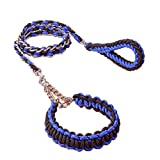 Cradifisho XQ Seil für Hunde, Eisenkette, Zugseil für große Hunde, Blau