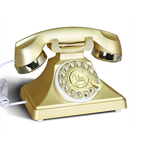 Liu Yu·casa creativa, rotazione oro creativo decorazione ABS metallo casa soggiorno a mani libere retro dial-up telefono
