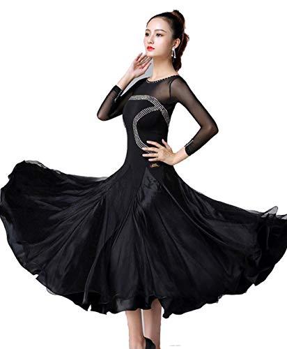 eid für Frauen, National Standard Ballsaal Tanz Outfit Für Frauen Professionel Performance Tüll-Schaukel Wettbewerb,XL ()