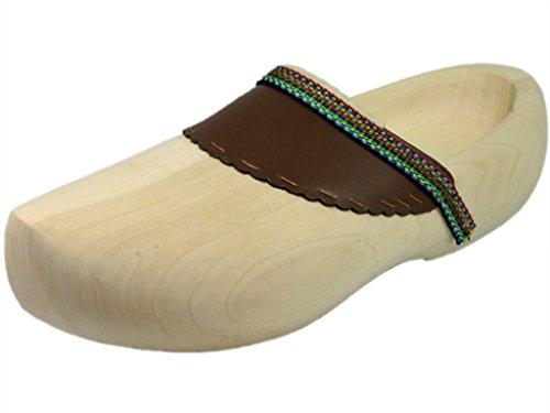HOLZSCHUHVERSAND Unisex Holzschuhe COMFORT - bequem - vielseitig, Beige, Größe: 43