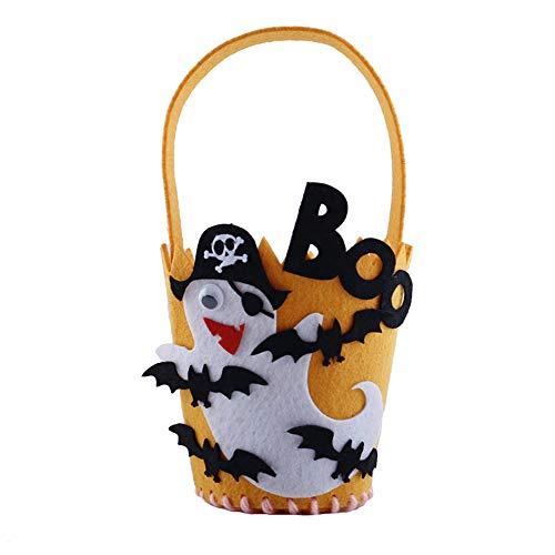 XBCC Halloween-Süßigkeits-Tasche Halloween-Nette Süßigkeits-Tasche, die Kinder Partei-Aufbewahrungsbeutel-Geschenk Verpackt 10 Sätze Geist