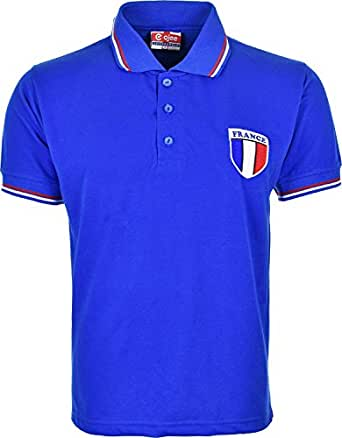 France Euro 2016 Football Polo Shirts With Embroidered
