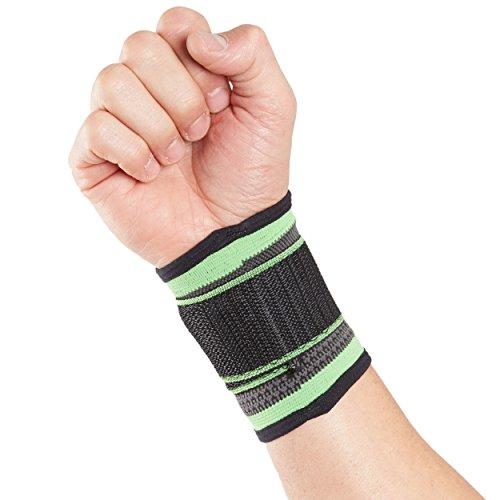Órtesis muñequera deportiva Actesso – Verde – Órtesis para esguinces, distensiones o lesiones deportivas (Grande, Verde)