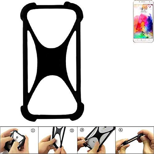 K-S-Trade Handyhülle für Hisense A1 Schutz Hülle Silikon Bumper Cover Case Silikoncase TPU Softcase Schutzhülle Smartphone Stoßschutz, schwarz (1x)