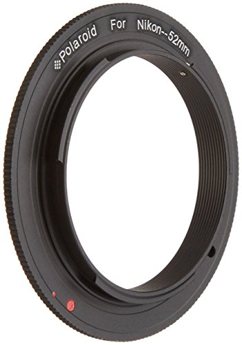Polaroid 52mm Filter Thread Lens, Macro Reverse Ring Camera Mount Adapter For The Nikon D40, D40x, D50, D60, D70, D80, D90, D100, D200, D300, D3, D3S, D700, D3000, D5000, D3100, D7000, D5100, D3200, D600, D4, D800, D800E Digital SLR Cameras  available at amazon for Rs.1479