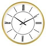 MingXinJia Relojes de Pared Relojes de Exterior Moda Salón Mute Reloj Novela Creativa Reloj de Cuarzo, d