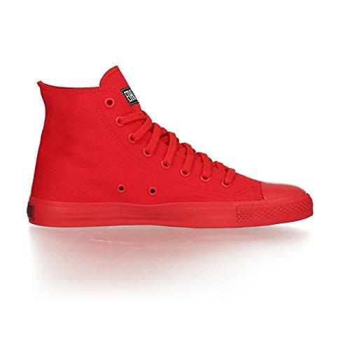 Ethletic Sneaker Monochrom vegan HiCut - Farbe cranberry aus Bio-Baumwolle Größe 40 - 5
