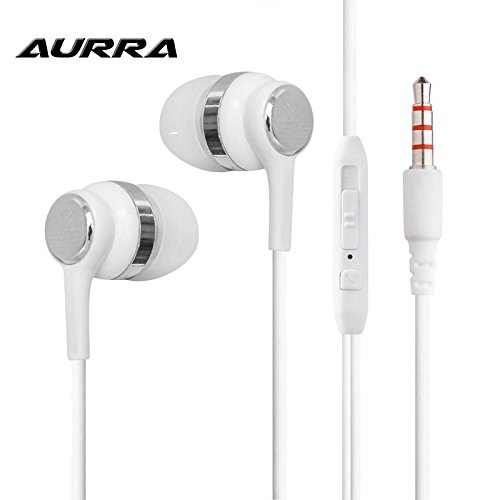 Aurra In-Ear Headphones/Earphones/Earbuds with Microphone compatible with Xiaomi Redmi Note 4X (EP110)