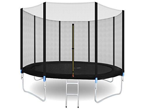 MALATEC Gartentrampolin Outdoor Trampolinmit Sicherheitsnetz und Leiter bis 150 kg Komplettset inkl.Außennetz 180/305/366cm 2215, Größe:305-312cm