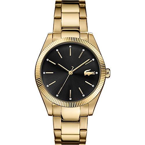 Lacoste Damen Analog Quarz Uhr mit Edelstahl Armband 2001088