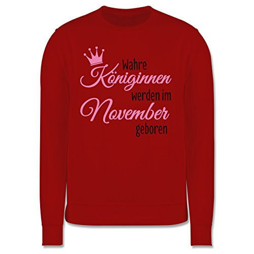 Geburtstag - Wahre Königinnen werden im November geboren - Herren Premium Pullover Rot