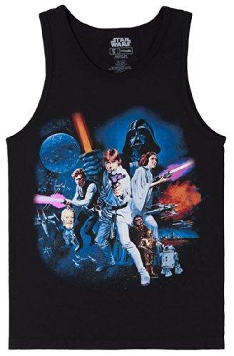 Star Wars Full Cast Black Tank Top Shirt