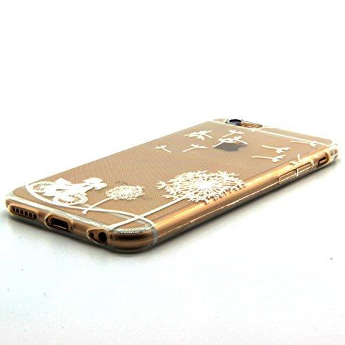 TIODIO® 4 en 1 Pour Apple iPhone 6S/iPhone 6, TPU Silicone Shell Housse Coque Étui Case Cover, Stylus et Film protecteur inclus, Brille dans le noir, B20 B01