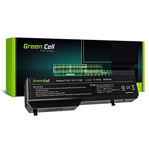Green Cell Standard Serie T114C K738H Laptop Akku für Dell Vostro 1510 1520 2510 1310 1320 (6 Zellen 4400mAh 11.1V Schwarz)