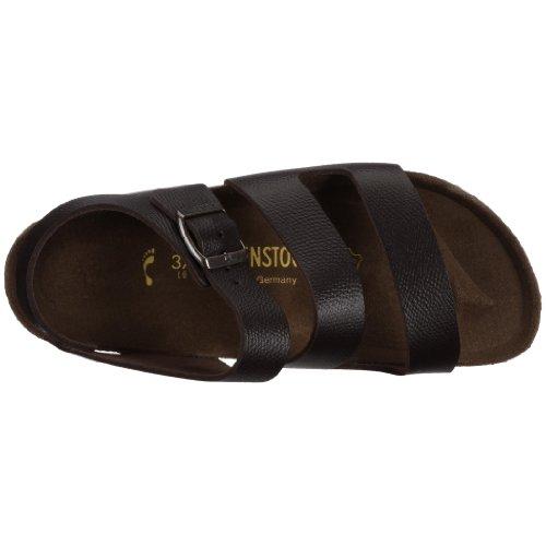 Birkenstock Genua , Unisex - Erwachsene Sandalen/Outdoor-Sandalen aus Naturleder Espresso
