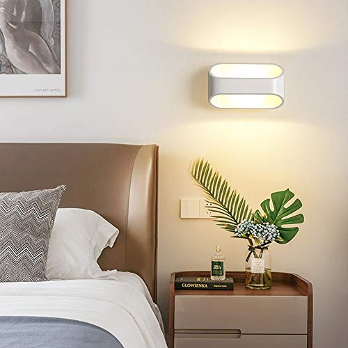 PElight Led Schlafzimmer Wandleuchte Innenbeleuchtung Auf Und Ab Wandlampe Moderne Schmiedeeisen Wandbeleuchtung für Wohnzimmer Schlafzimmer Treppenhaus Flur,Warmes Weiß