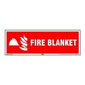 Mr. Safe – Fire Blanket Sign PVC Sticker 12 Inch X 4 Inch