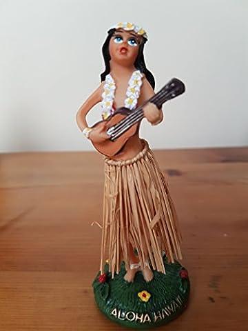 Traditional Wobbly MINI dashboard Hula Girl with ukulele