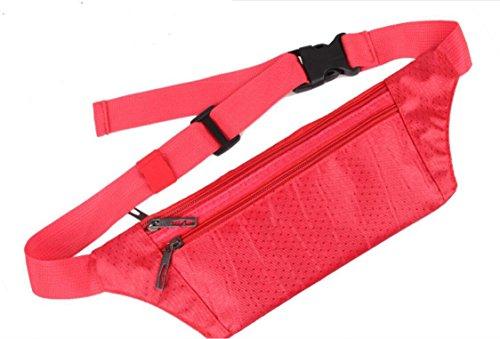 ZYT Multifunktionale Taschen Sport persönlichen Handy Taschen Taschen Pocket Männer und Frauen outdoor-Freizeit big red