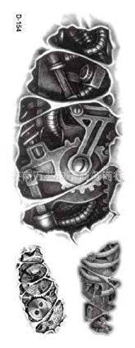 D-154 - tattoo in bianco e nero adesivo temporanei temporaneo corpo stickers gotik gotico orientale esotico tattoo adesivo foglio black and white oriente per - uomo