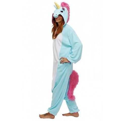 Kostüm Halloween Dragon Tails (Damen Herren Unisex Erwachsene Anime Weihnachten Halloween Karneval Cosplay Kigurumi Outfit Kostüm Einteiler Pyjama Strampler Kleidung Stück passt Gr. Medium, Blue Large tail)