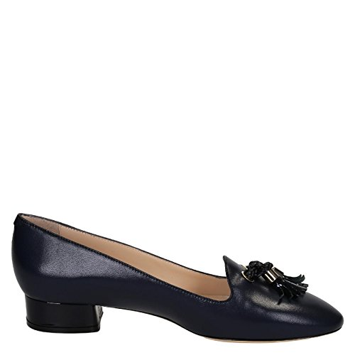 LEONARDO SHOES MOCASSINI DONNA 07GAIA PELLE BLU