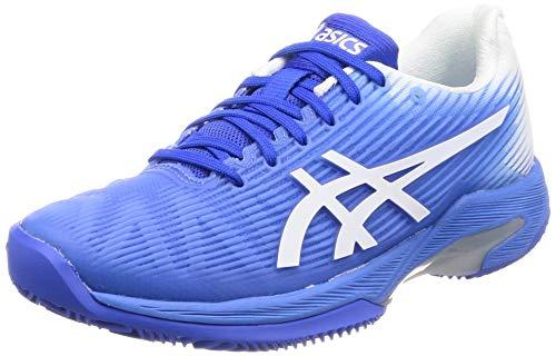 ASICS Donna Solution Speed FF Clay Scarpe da Tennis Scarpa per Terra Rossa Blu - Bianco 39,5