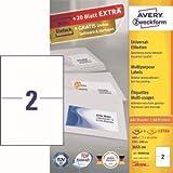 Avery Zweckform Universal-Etiketten 210x148 mm Geeignet für DHL Online Frankierung VE=440 Stück weiß