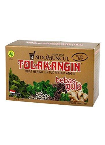 Preisvergleich Produktbild Sido Muncul Tolak Angin Bebas Gula - kostenlos Zucker Kräuter mit Gelée Royale 5-ct,  75 Ml