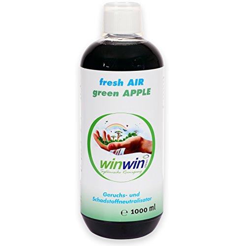 winwin clean Systemische Reinigung - Luftreinigungs-Konzentrat Fresh AIR 'Green Apple' 1000ml I 3-Fach Konzentrat I Solange REICHT!!!