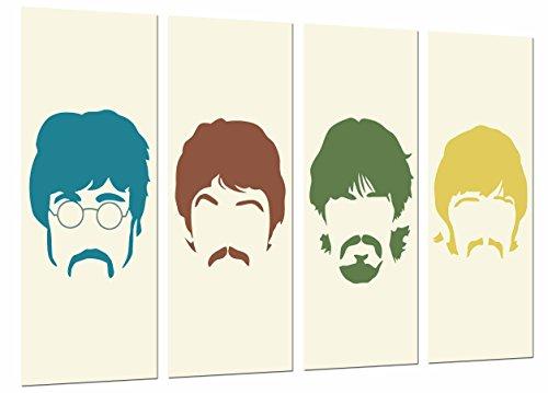 Poster Moderno Fotografico Los Beatles, John Lennon, Paul Mccartney, Famoso, Musica, 131 x 62 cm, ref. PST26657