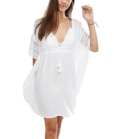 Tunique Plage Blanche - GenialES Tunique Paréo Blanc Bikini Cover Up