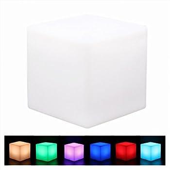 Giwox Cube Lampe De Chevet Led clairage DAmbiance Multicolore Et