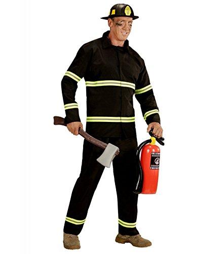 WIDMANN wdm03942-Kostüm für Erwachsene Feuerwehrmann, schwarz, M (Feuerwehrmann Kostüm Für Erwachsene)