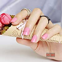 FARMERLY 2017 24pcs short paragraph new cute candy color hot buy fake fingernails complete pink SN160: 1pcs