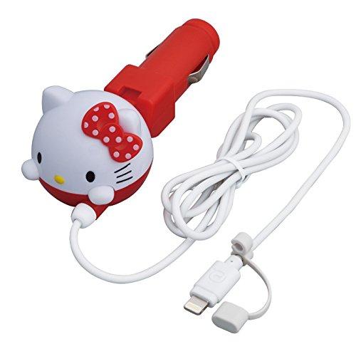 Seiwa für Auto Handy Ladekabel Hello Kitty DC KFZ Ladegerät Lightning Höhle rot KT470 (Kitty Ladegerät Hello)