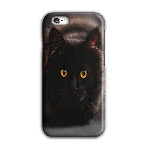 Schwarz Muschi Katze Flaumig Schnurrhaare iPhone 6 / 6S Hülle | Wellcoda