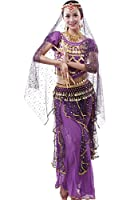 & # 9650 flounced Short Sleeve Top, Ties on the back to adjust The Size AS You Like. & # 9650 There are 12 Panels on the Belly Dance Skirts, IT is made in the Classic Style. This bellydance gonna is perfect for spinning and Doing Dyna...